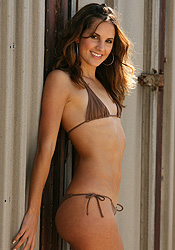 Looking Amazing In Her Brown Micro Bikini Eva Paige Has A Smokin Body - Picture 6