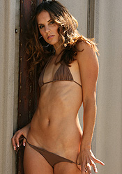 Looking Amazing In Her Brown Micro Bikini Eva Paige Has A Smokin Body - Picture 10
