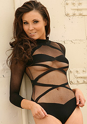 What A Tease With Her Black Stripe Body Suit Iris Looks Like An Angel - Picture 10