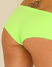 Priscilla Plays With Her Perfect Breasts In Her Bright Green Two Piece - Picture 7
