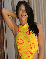 Cassie Channels The Sun Gods In Her Hot Yellow And Orange One Piece - Picture 12