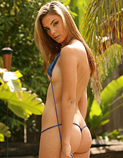 Alex Looks Much Hotter With Her Teeny Tiny, Shiny Blue Bikini Off! - Picture 8