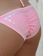 Ashley Loves To Tease Us In Her Cute Little Pink Bikini! - Picture 10