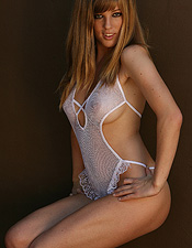 Ashley Is Completely Exposed In Her White Fishnet And See Thru Teddy! - Picture 8