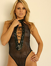 Nicole Jaimes Is Rockin Her One Piece In Leather And Lace - Picture 1
