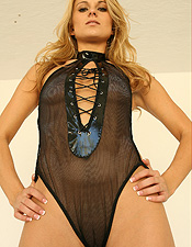 Nicole Jaimes Is Rockin Her One Piece In Leather And Lace - Picture 6