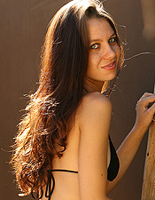 Kami Struts Her Stuff And Looks Good In And Out Of A Black Bikini - Picture 6