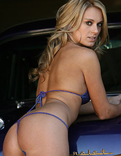 Shiny Purple Micro Bikini And Thong On Nicole Is All We Need To Say - Picture 3