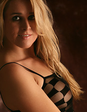 Cute Blonde Crystal Marie In Sexy See Through One Piece - Picture 8