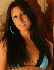Devon Danes Removes Her Sexy Blue Bikini - Picture 1