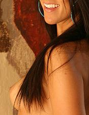 Devon Danes Removes Her Sexy Blue Bikini - Picture 7