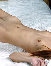 slim redhead korina nude lace lingerie tease bed trimmed pussy PICTURE 17
