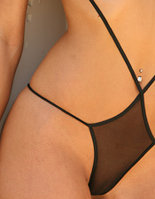 Hot Blonde Ali Wearing Her Favorite See-thru One Piece Lingerie Outfit - Picture 14